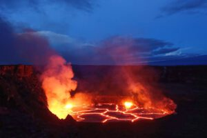Lava lake in Halema'uma'u crater.